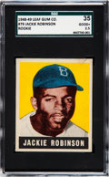 Baseball Cards:Singles (1940-1949), 1948 Leaf Jackie Robinson #79 SGC 35 Good+ 2.5....