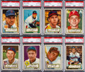 Baseball Cards:Lots, 1952 Topps Baseball PSA NM-MT 8 Collection (8). ...