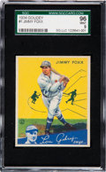 Baseball Cards:Singles (1930-1939), 1934 Goudey Jimmy Foxx #1 SGC 96 Mint 9 - Pop One, None Higher! ...