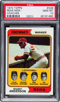 Baseball Cards:Singles (1970-Now), 1974 Topps Reds Manager/Coaches #508 PSA Gem MT 10 - Pop Two. ...