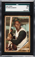 Baseball Cards:Singles (1960-1969), 1962 Topps Roberto Clemente #10 SGC 96 Mint 9 - Pop Two, NoneHigher. ...