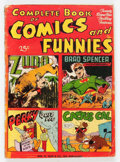 Golden Age (1938-1955):Superhero, Complete Book of Comics and Funnies #1 (Wm. H. Wise & Co.,1944) Condition: GD+....