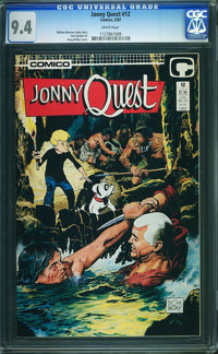 Jonny Quest #12 (Comico, 1987) CGC NM 9.4 White pages