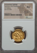 Ancients:Byzantine, Ancients: Heraclius & Heraclius Constantine (AD 613-641). AVsolidus. NGC AU, graffiti....