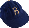 Baseball Collectibles:Hats, Circa 1947 Clyde Sukeforth Game Worn Brooklyn Dodgers Cap....