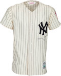 Baseball Collectibles:Uniforms, Circa 1990 Mickey Mantle Signed New York Yankees Jersey. ...