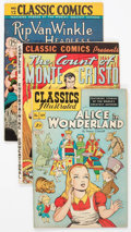 Golden Age (1938-1955):Classics Illustrated, Classics Illustrated Group of 4 (Gilberton, 1942-50) Condition: Average VG.... (Total: 4 Comic Books)