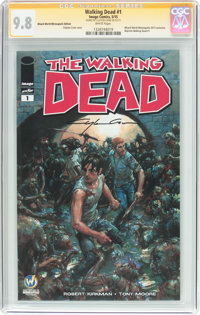 The Walking Dead #1 Wizard World Minneapolis Edition - Signature Series (Image, 2015) CGC NM/MT 9.8 White pages