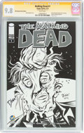 Modern Age (1980-Present):Horror, The Walking Dead #1 Wizard World Raleigh Sketch Edition - SignatureSeries (Image, 2015) CGC NM/MT 9.8 White pages....