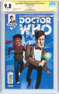 Modern Age (1980-Present):Science Fiction, Doctor Who: The Eleventh Doctor Year Two #1 Variant Cover D -Signature Series (Titan Comics, 2015) CGC NM/MT 9.8 White pages....