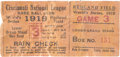 Baseball Collectibles:Tickets, 1919 World Series (Game Six) Ticket Stub....