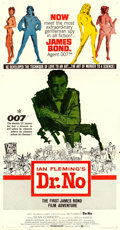 "Movie Posters:James Bond, Dr. No (United Artists, 1962). Three Sheet (41"" X 81"").. ..."