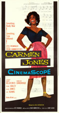 "Movie Posters:Black Films, Carmen Jones (20th Century Fox, 1954). Three Sheet (41"" X 80"")....."
