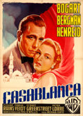"Movie Posters:Academy Award Winners, Casablanca (Warner Brothers, R-1953). Italian 2 - Fogli (39.5"" X55"") Luigi Martinati Artwork.. ..."