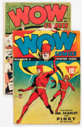 Golden Age (1938-1955):Miscellaneous, Wow Comics #4 and 13 Group (Fawcett Publications, 1941-43).... (Total: 2 Comic Books)