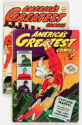 Golden Age (1938-1955):Superhero, America's Greatest Comics #1 and 2 Group (Fawcett Publications,1942-43).... (Total: 2 Comic Books)