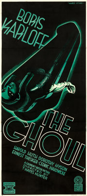 """The Ghoul (Gaumont, 1933). British Three Sheet (39"""" X 87"""") Style A, Marc Stone Artwork"""