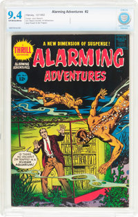 Alarming Adventures #2 (Harvey, 1962) CBCS NM 9.4 Off-white to white pages