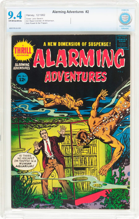 Alarming Adventures #2 (Harvey, 1962) CBCS NM 9.4 Off-white to white pages....