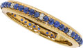 Estate Jewelry:Bracelets, Sapphire, Diamond, Gold Bracelet, Trio. ...