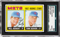 Baseball Cards:Singles (1960-1969), 1967 Topps Tom Seaver - Mets Rookies #581 SGC 92 NM/MT+ 8.5 fromThe Gary Carter Collection....