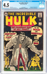 The Incredible Hulk #1 (Marvel, 1962) CGC VG+ 4.5 Cream to off-white pages