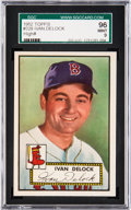 Baseball Cards:Singles (1950-1959), 1952 Topps Ivan Delock #329 SGC 96 Mint 9 - Pop One, None Higher....