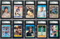 Baseball Cards:Sets, 1981-88 Fleer Baseball Set Collection (12) from The Gary Carter Collection. ...