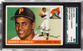 Baseball Cards:Singles (1950-1959), 1955 Topps Roberto Clemente #164 SGC 80 EX/NM 6 from The GaryCarter Collection. ...