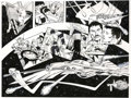 Original Comic Art:Splash Pages, Mike Grell - Starslayer, Splash Page 14 and 15 Original Art(undated).. ...