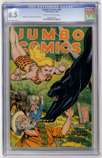 Jumbo Comics #87 (Fiction House, 1946) CGC VF+ 8.5 Cream to off-white pages