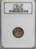 Seated Dimes, 1856 10C Small Date MS63 NGC....