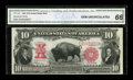 Large Size:Legal Tender Notes, Fr. 122 $10 1901 Legal Tender CGA Gem Uncirculated 66....