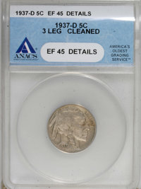 1937-D 5C Three-Legged--Cleaned--ANACS. XF45 Details. ...(PCGS# 3982)