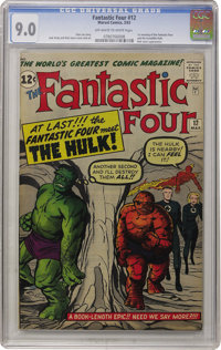 Fantastic Four #12 (Marvel, 1963) CGC VF/NM 9.0 Off-white to white pages