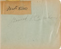 Baseball Collectibles:Others, 1924 Babe Ruth Signed Autograph Book....