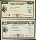 Miscellaneous:Other, $25 War Savings Bond Series E Schwan 234b Two Examples.. ...(Total: 2 items)