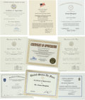 Movie/TV Memorabilia:Awards, An Ernest Borgnine Group of Military Citations, 1970s-2000s....