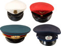 Movie/TV Memorabilia:Costumes, An Ernest Borgnine Group of Military Caps, 1950s.... (Total: 4 )