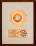 "Music Memorabilia:Awards, Clint Holmes ""Playground in My Mind"" RIAA White Mat Gold RecordSales Award (Epic 5-10891, 1972)...."