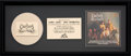 Music Memorabilia:Awards, Chieftains The Bells of Dublin In-House Gold Sales Award(RCA, 1991)....