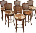 Movie/TV Memorabilia:Instruments , An Ernest Borgnine Group of Barstools, 1970s.... (Total: 6 Items)