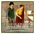 "Movie Posters:Comedy, Triple Trouble (Essanay, 1918). Six Sheet (81"" X 81"").. ..."