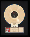 Music Memorabilia:Awards, Joe Satriani Surfing with the Alien RIAA Golf Record Award(Relativity 88561-8193-1, 1987)....