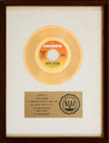 "Music Memorabilia:Awards, Barbra Streisand ""The Way We Were"" RIAA White Mat Gold Record SalesAward (Columbia Records 4-45944, 1973)...."