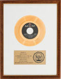 "Music Memorabilia:Awards, Herman's Hermits ""Mrs. Brown You've Got A Lovely Daughter"" RIAAWhite Mat Gold Record Sales Award (MGM Records K13341, 196..."