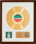 Music Memorabilia:Awards, Aretha Franklin Young, Gifted And Black RIAA White Mat GoldRecord Sales Award (Atlantic Records SD-7213, 1972)....