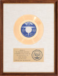 "Music Memorabilia:Awards, Righteous Brothers ""(You're My) Soul And Inspiration"" RIAA WhiteMat Gold Record Sales Award (Verve Records VK-10383, 1966..."