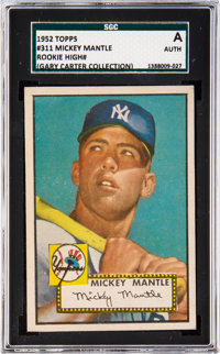 1952 Topps Mickey Mantle #311 SGC Authentic From The Gary Carter Collection
