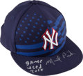 Baseball Collectibles:Hats, 2015 Michael Pineda Game Worn, Signed New York Yankees Stars and Stripes July 4th Cap....